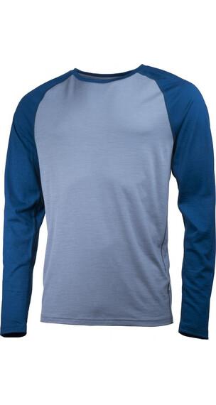 Lundhags Merino Light Raglan Shirt Men Soft Blue/Petrol